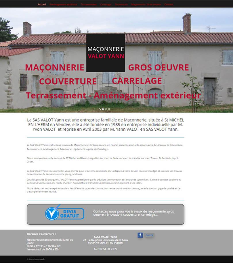Maçonnerie SAS Valot Yann Vendée